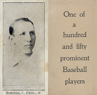 1903 Breisch-Williams (Type 1) Chief Zimmer #160 Baseball Card
