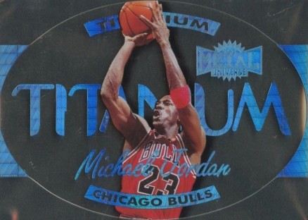 1997 Metal Universe Titanium Michael  Jordan #1 Basketball Card