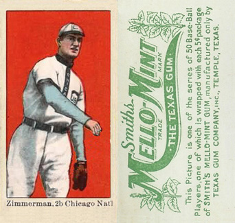 1910 Mello-Mint Heinie Zimmerman #50 Baseball Card