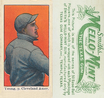 1910 Mello-Mint Cy Young #49 Baseball Card