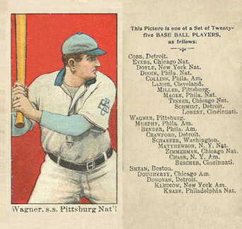 1908 Anonymous Honus Wagner #27 Baseball Card