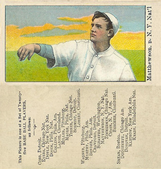 1908 Anonymous Christy Mathewson #18 Baseball Card