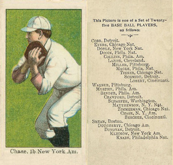 1908 Anonymous Hal Chase #3 Baseball Card