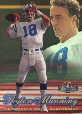 1998 Flair Showcase Row 2 Peyton  Manning #3 Football Card