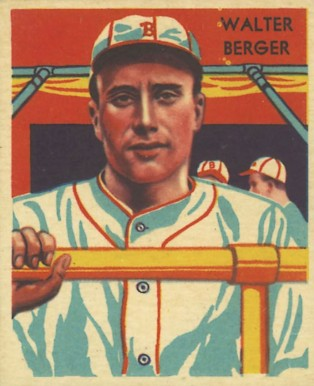 1935 Diamond Stars  Walter Berger #108 Baseball Card