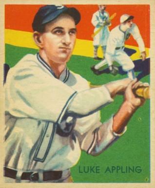 1935 Diamond Stars Luke Appling 95 Baseball Card Value Price Guide
