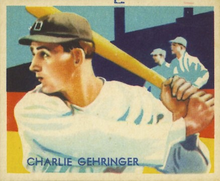 1934 Diamond Stars Charlie Gehringer #77 Baseball Card