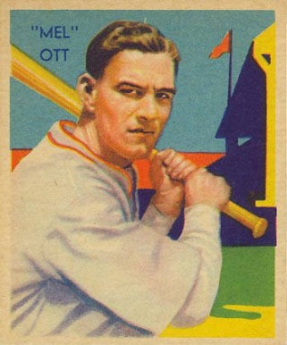 1935 Diamond Stars Mel Ott #50 Baseball Card
