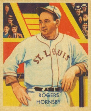 1935 Diamond Stars Rogers Hornsby 44 Baseball Vcp Price Guide