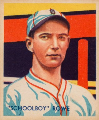 1935 Diamond Stars  Schoolboy Rowe #33 Baseball Card