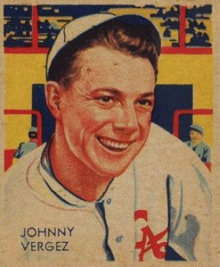 1935 Diamond Stars  Johnny Vergez #21 Baseball Card
