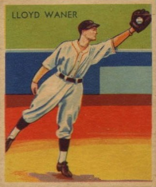 1935 Diamond Stars  Lloyd Waner #16 Baseball Card