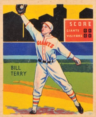 1935 Diamond Stars  Bill Terry #14 Baseball Card
