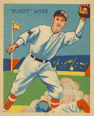 1935 Diamond Stars  Buddy Myer #4 Baseball Card
