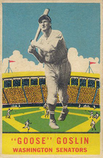 1933 DeLong Goose Goslin #24 Baseball Card