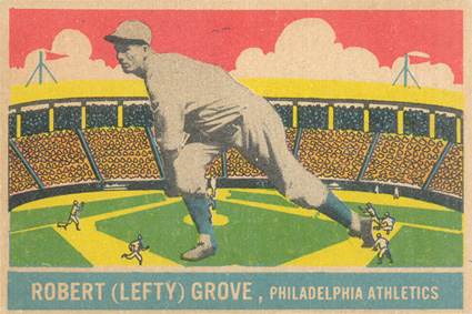 1933 DeLong Lefty Grove #23 Baseball Card