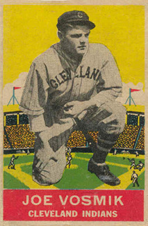 1933 DeLong Joe Vosmik #20 Baseball Card