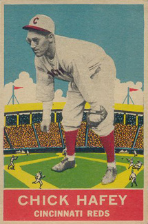 1933 DeLong Chick Hafey #19 Baseball Card