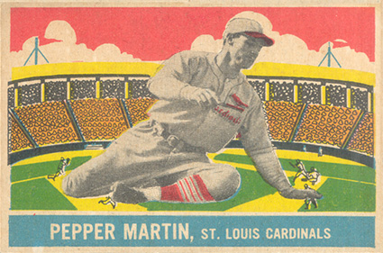 1933 DeLong Pepper Martin #17 Baseball Card