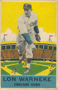 1933 DeLong Lon Warneke #16 Baseball Card