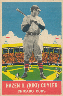 1933 DeLong Kiki Cuyler #8 Baseball Card
