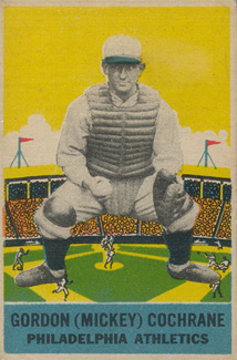 1933 DeLong Mickey Cochrane #6 Baseball Card