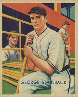 1935 Diamond Stars George Stainback #52 Baseball Card
