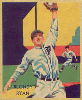 1935 Diamond Stars Blondy Ryan #40 Baseball Card