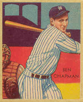 1934 Diamond Stars Ben Chapman #38 Baseball Card