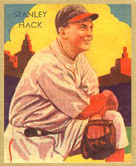 1935 Diamond Stars Stan Hack #34 Baseball Card