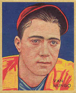 1935 Diamond Stars  Van Mungo #19 Baseball Card