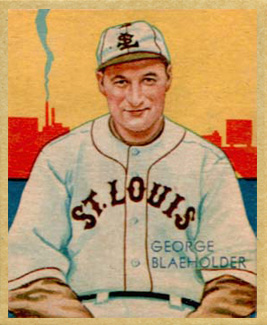 1935 Diamond Stars  George Blaeholder #13 Baseball Card