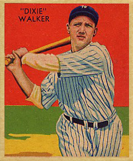 1935 Diamond Stars  Dixie Walker #12 Baseball Card