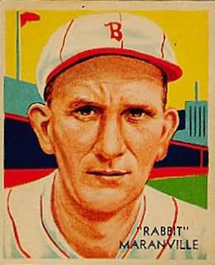 1934 Diamond Stars Rabbit Maranville #3 Baseball Card