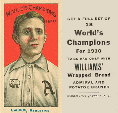 1911 Williams Baking Lapp, Athletics #9 Baseball Card