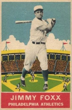 1933 DeLong Jimmie Foxx #21 Baseball Card