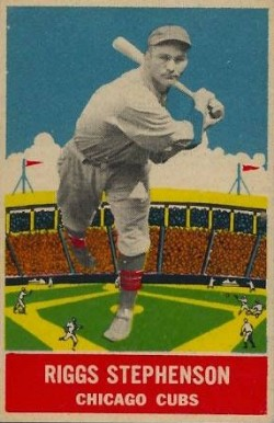 1933 DeLong Riggs Stephenson #15 Baseball Card