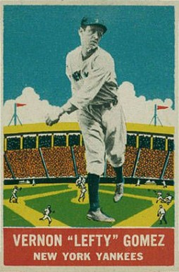 1933 DeLong Lefty Gomez #14 Baseball Card