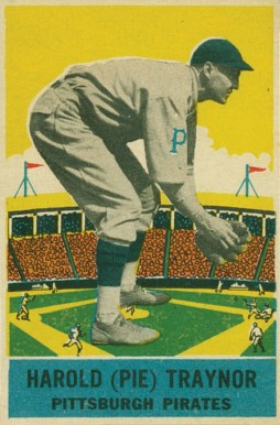 1933 DeLong Pie Traynor #12 Baseball Card