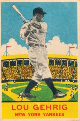 1933 DeLong Lou Gehrig #7 Baseball Card