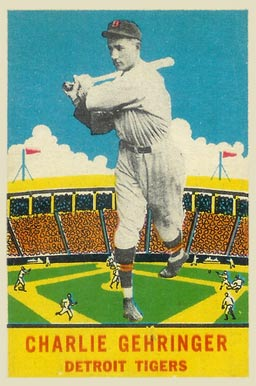 1933 DeLong Charlie Gehringer #5 Baseball Card