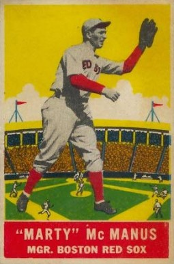1933 DeLong Marty McManus #1 Baseball Card