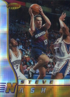 1996 Bowman's Best Atomic Refractor Steve Nash #R18 Basketball Card