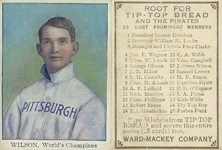 1910 Tip Top Bread Owen Wilson #25 Baseball Card