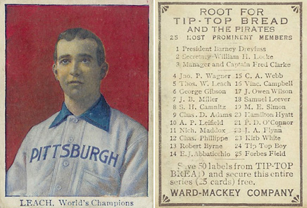 1910 Tip Top Bread Tom Leach #12 Baseball Card