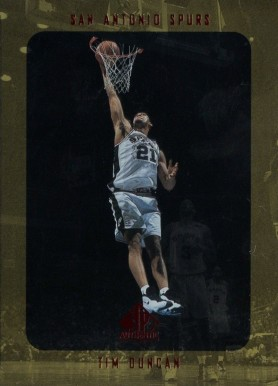 1997 SP Authentic Tim Duncan #128 Basketball Card