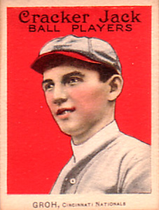 1915 Cracker Jack Heinie Groh #159 Baseball Card