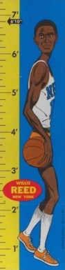 1969 Topps Rulers Willis Reed #19 Basketball Card