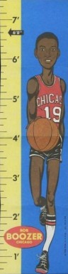 1969 Topps Rulers Bob Boozer #23 Basketball Card