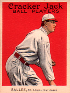 1915 Cracker Jack Slim Sallee #123 Baseball Card